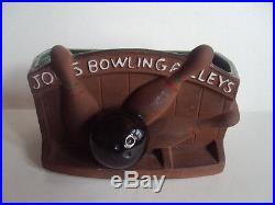Vintage Original McCoy Joes Bowling Alleys Sports Planter/Vase. NICE! HTF! L@@K