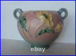 Vintage Original Roseville Pottery Poppy 335-6 Green/Rose Bowl / Vase. Beautiful