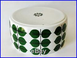 Vintage Original Sting Lindberg Green Leaf Bersa Large Bowl Gustavsberg Sweden