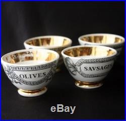 Vintage PIERO FORNASETTI Four Appetizer Bowls 50s