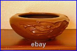 Vintage Peters & Reed Pottery Persian Ware #9 Bowl Deep Matte Brown Branches
