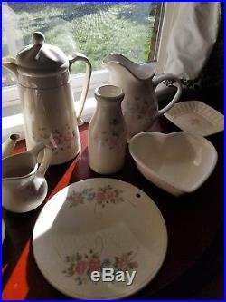Vintage Pfaltzgraff Tea Rose Set Service for 8 plate bowl cup Coffee Tea 78pc & Vintage Pfaltzgraff Tea Rose Set Service for 8 plate bowl cup Coffee ...