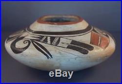 Vintage Polychrome Polacca Sikyatki Revival Hopi-Tewa Pottery Bowl Jar Repaired