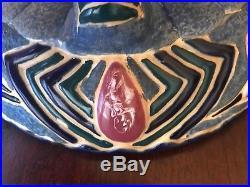 Vintage Porcelain Pottery Amphora Art Nouveau Bohemian Czech Turn-Teplitz Bowl