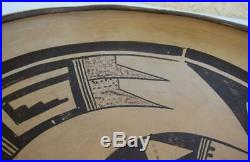Vintage Pubelo Hopi Indian Nampeyo Pottery Bowl 8.5 Wide