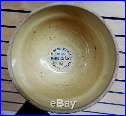 Vintage RED WING Pottery Advertising SPONGE BOWL Muller & Lohr Rudd, IA (TH986)