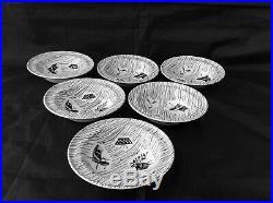 Vintage RIDGWAY HOMEMAKER TUREEN & SIX Rimmed DESSERT / FRUIT BOWLS. 6 (15.3cm)