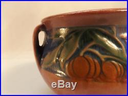Vintage ROSEVILLE art POTTERY small BANEDA JARDINIERE pink bowl c1933