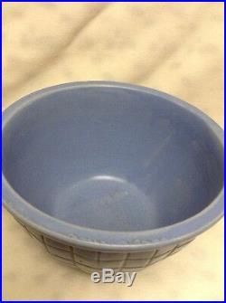 Vintage RRP CO Ransbottom Pottery Bowls Nesting Set Of 3 Roseville, OH