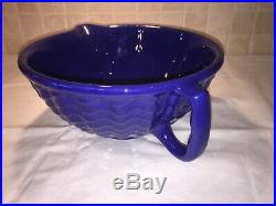 Vintage Rare Gladding Mcbean Batter Bowl Cobalt Blue