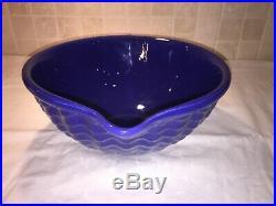 Vintage Rare Gladding Mcbean Cocinero Batter Bowl Cobalt Blue