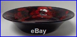 Vintage Rare Moorcroft Flambe Pansy Bowl