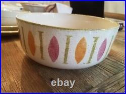 Vintage Red Wing PotteryPEPE Service for 8, 2 Platters, 2 Veggie, 1 Salad Bowl