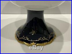 Vintage Reichenbach German Democratic Republic Pedestal Compote Bowl 11.5