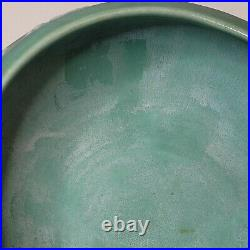 Vintage Rookwood Pottery Bowl Arts and Crafts 1929 Aqua #1351 Waterlilies Footed
