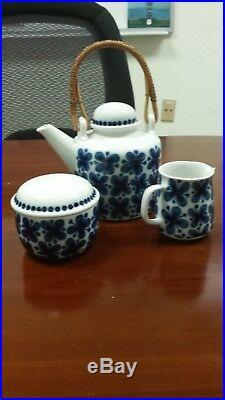 Vintage Rorstrand Mon Amie, Teapot, Sugar Bowl, Creamer, Sweden, Marianne Westma