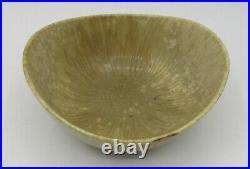 Vintage Rorstrand Sweden Gunnar Nylund glazed ceramic pottery bowl 4.25 GN/US