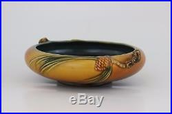 Vintage Roseville Art Pottery 354-6 Pinecone Bowl from 1935-1940