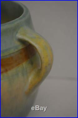 Vintage Roseville Art Pottery Green Monticello Bowl 5 Arts and Crafts Ohio
