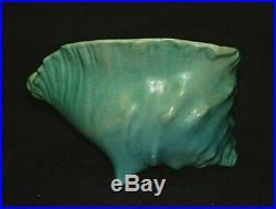 Vintage Roseville Art Pottery Water Lily Conch Shell Planter Bowl #445 USA MCM