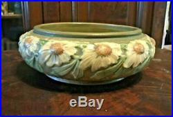 Vintage Roseville Dahlrose Art Pottery Console Bowl