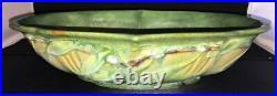 Vintage Roseville Green Laurel #254-14 Console Bowl Arts & Crafts Excellent