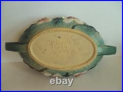 Vintage Roseville Magnolia Bowl 449-10 and Candle Holders 4 1/2 Set. Excellent