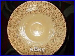Vintage Roseville Ohio USA 15 R. Ransbottom XLg Mixing Bowl Sponge Ware 15.5 dia