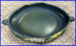 Vintage Roseville Pottery Blue Freesia Oval Bowl 1940's