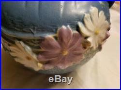 Vintage Roseville Pottery Cosmos Blue Bowl #376-6