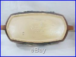 Vintage Roseville Pottery Magnolia Large Console Bowl, #452-14, ca. 1943