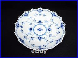 Vintage Royal Copenhagen Blue Fluted Full Lace Serving Bowl, #1018, 1st quality