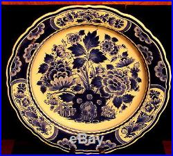Vintage Royal Delft de Porceleyne Fles 14 3/8 Wall Plate / Bowl