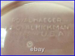Vintage Royal Haeger by Royal Hickman USA Daisy Bowl Sea Nymph Flower Frog
