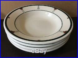Vintage Roycroft Soup Bowls Buffalo Pottery Single R