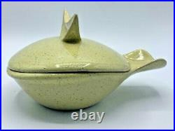 Vintage SET 8 Glidden Pottery Soup Bowls/Casserole Dishes & Lids MCM 4x8 NICE