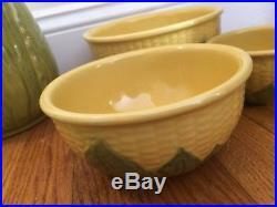 Vintage SHAWNEE CORN KING gift set! Cookie jar, 3-Bowls, S+P, Creamer, Sugar