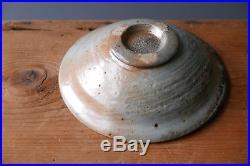 Vintage SVEND BAYER studio pottery STONEWARE SHINO BOWL no. 2 wood fired in Devon