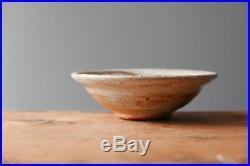 Vintage SVEND BAYER studio pottery STONEWARE SHINO BOWL wood fired in Devon