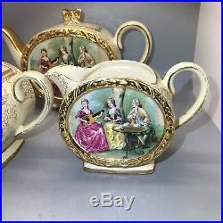 Vintage Sadler Barrel Shaped Teapot Jug & Bowl Rare Courting Couples Design