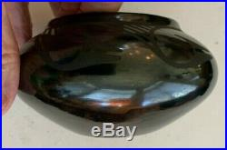 Vintage San Ildefonso Blackware Bowl Signed Anna (Maria's older sister)