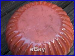 Vintage Santa Clara Pueblo redware pottery melon bowl Angela Baca 7 3/4 x 4.5in