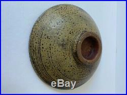 Vintage Signed 1954 Harding Black 7 Bowl Studio Art Pottery Green