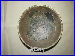 Vintage Signed Susan Harlander Brooklin Art Studio Pottery Bowl Canada Abstract