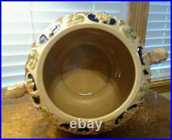 Vintage Stoneware Gerz German Tureen Punch Bowl 10 Piece Set Excel. Condition