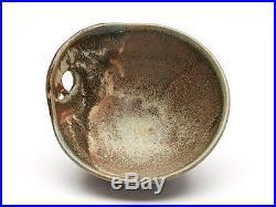 Vintage Studio Pottery Handled Bowl Signed 20th C
