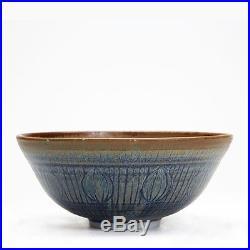 Vintage Studio Pottery Incised Bowl Alan Ward 20th C