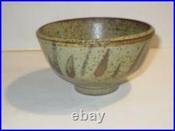 Vintage Studio Pottery Tea Bowl With Amazing Glaze, Shoji Hamada Style
