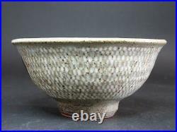 Vintage Tatsuzo Shimaoka Japanese rice bowl withwooden box Excellent From Japan