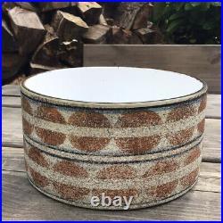 Vintage Troika Drum Bowl Planter Geometric Circle Design By Honor Curtis